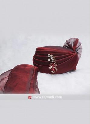 Wedding Wear Maroon Color Safa