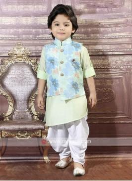 Wedding Wear Nehru Jacket For Boys