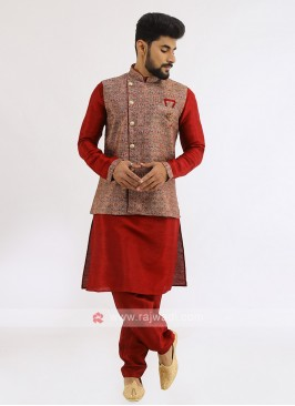 Wedding Wear Nehru Jacket Set