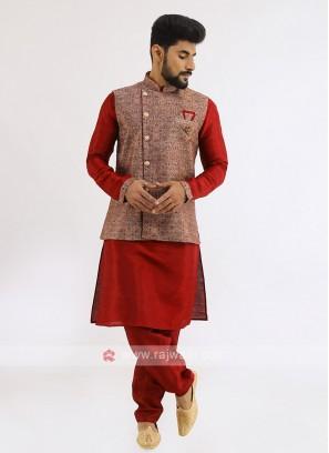 Wedding Wear Nehru Jacket Set