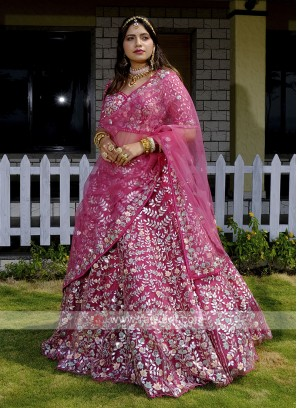 Wedding Wear Net Lehenga Choli