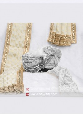 Wedding Wear Off White Dupatta