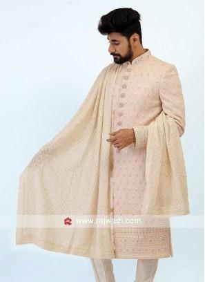 Wedding Wear Off White Dupatta
