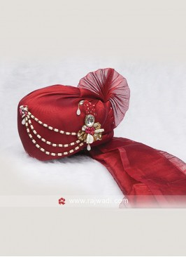 Wedding Wear Red Color Safa