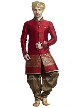 Wedding wear Red Patiala Suit