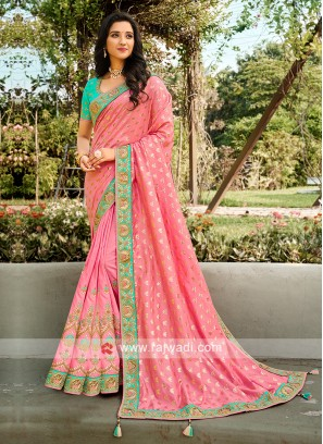 Wedding Wear Saree In Light Pink