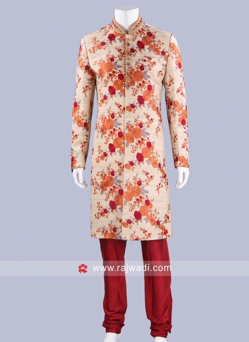 Wedding Wear Sherwani For Mens