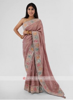 Wedding Wear Shimmer Silk Saree