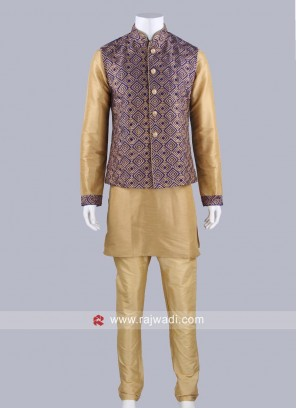Wedding Wear Silk Fabric Koti Set