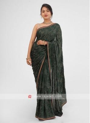 Wedding Wear Stone Work Saree