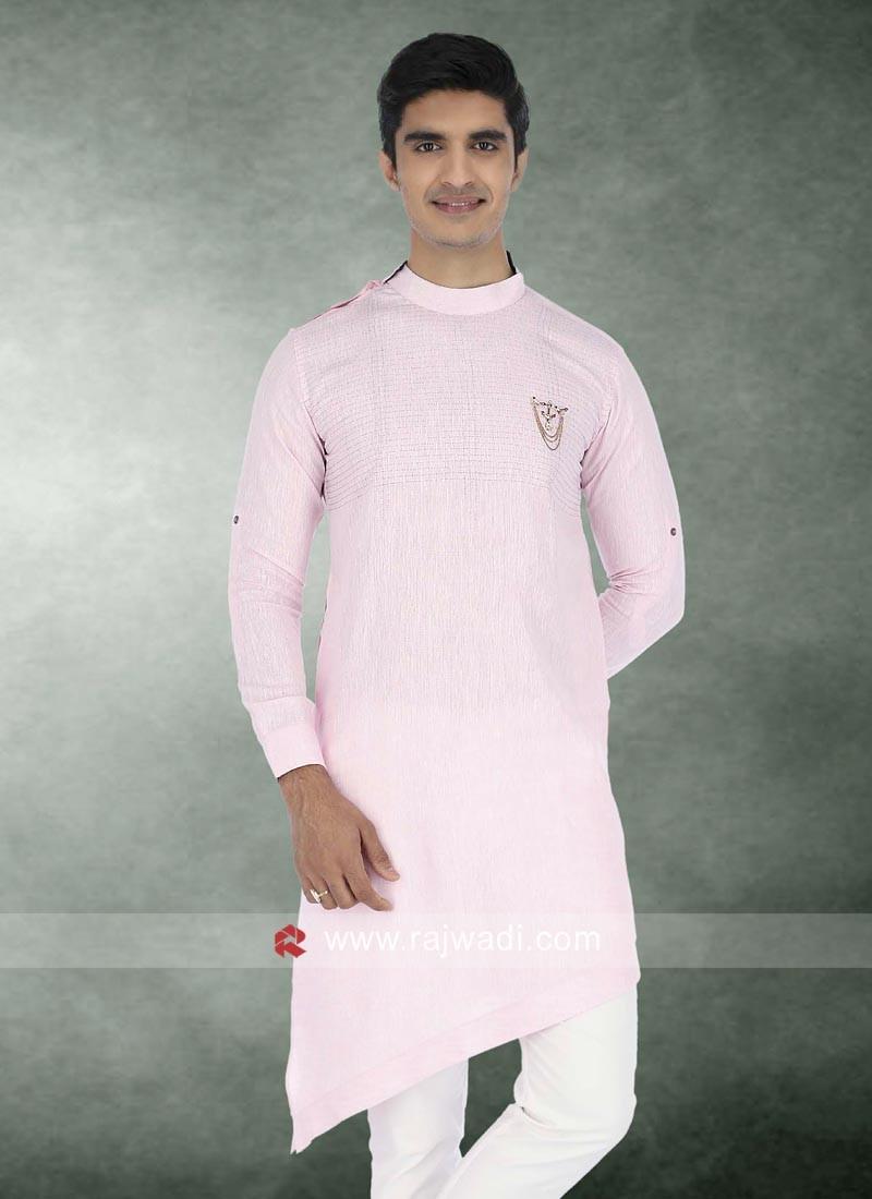 Wedding Wear Light Pink Kurta