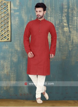 Red Kurta Pajama