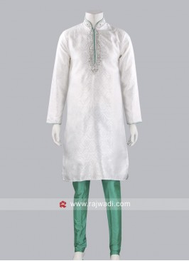 Wedding Wear White Kurta Pajama