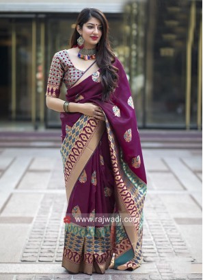 Wedding Zari Weaved Saree