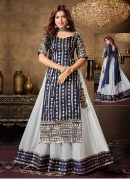 Sequins Work Choli Suit