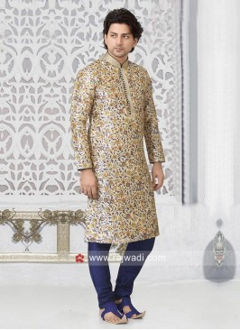 Off White Color Kurta Pajama