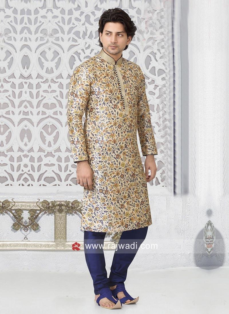 Off White Color Kurta Pajama