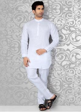 White Casual Kurta Pajama