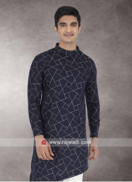 Navy Color Kurta For Wedding