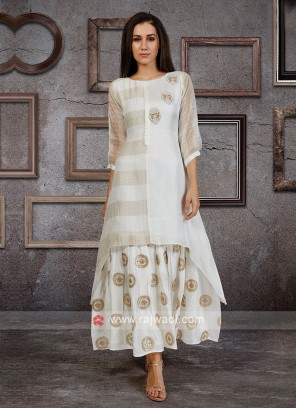 White Color Kurti For Women