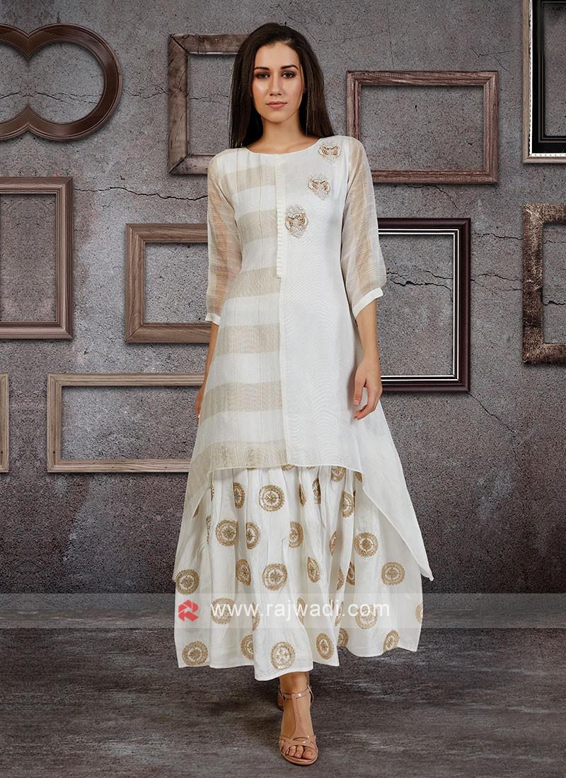 White Color Kurti For Women
