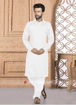 White Color Pathani Set