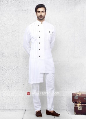 White Color Pathani Set