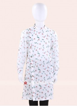 White Cotton Fabric Kurta