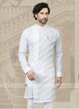 White Cotton Kurta