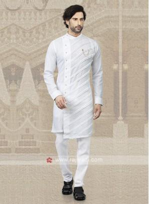 White Cotton Kurta Pajama