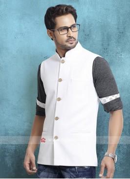 White Cotton Silk Koti