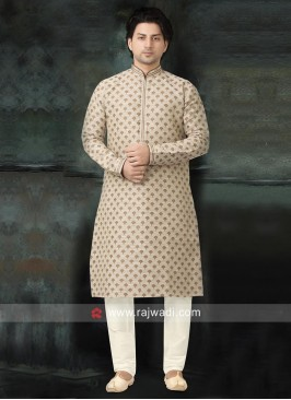 Stylish Cream Color Kurta Set