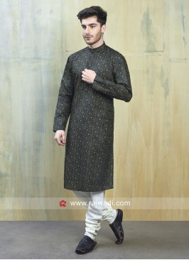 Attractive Dark Green Kurta Set