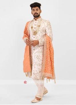 White Marriage Sherwani