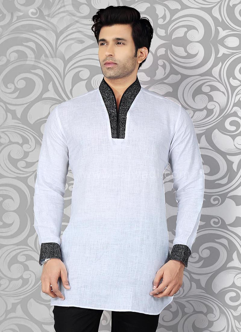 White Party Wear Kurta