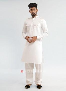 White Pathani Suit