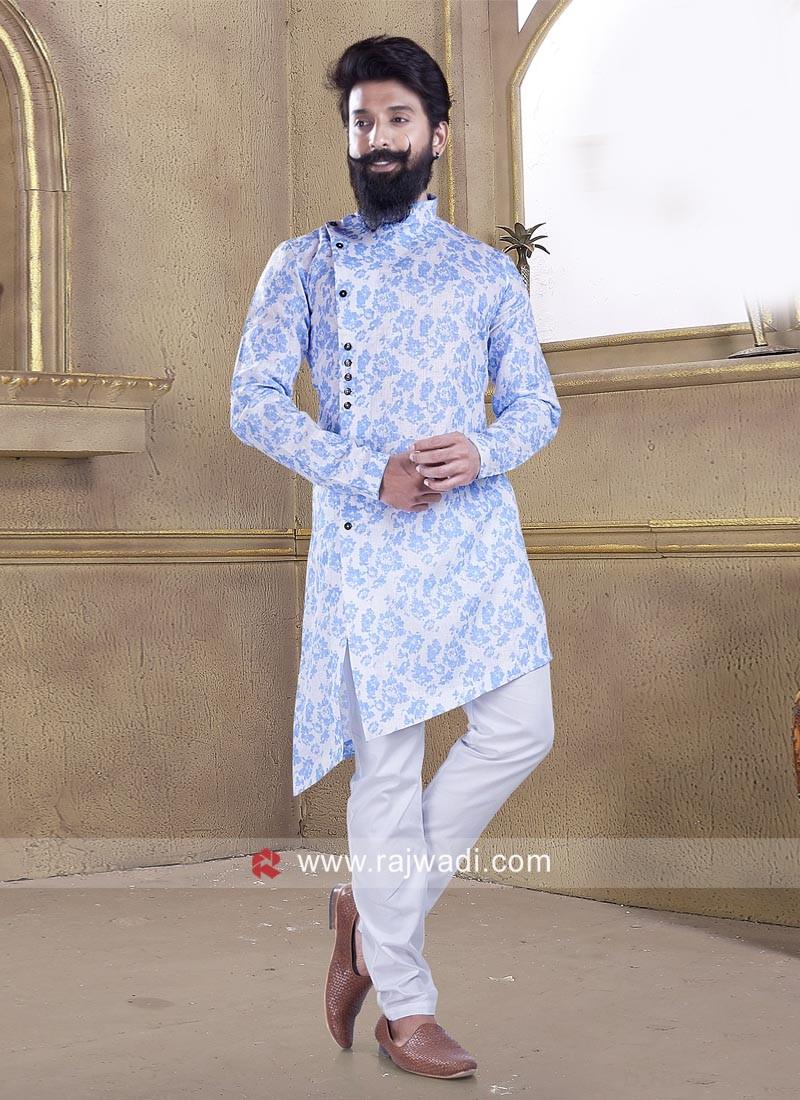 Corn Flower Blue Pathani Suit