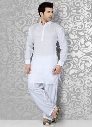 White Royal Pathani Suit