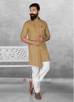 Golden Stylish Pathani Suit