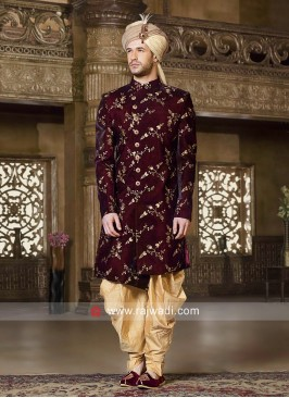Maroon Color Indo Western