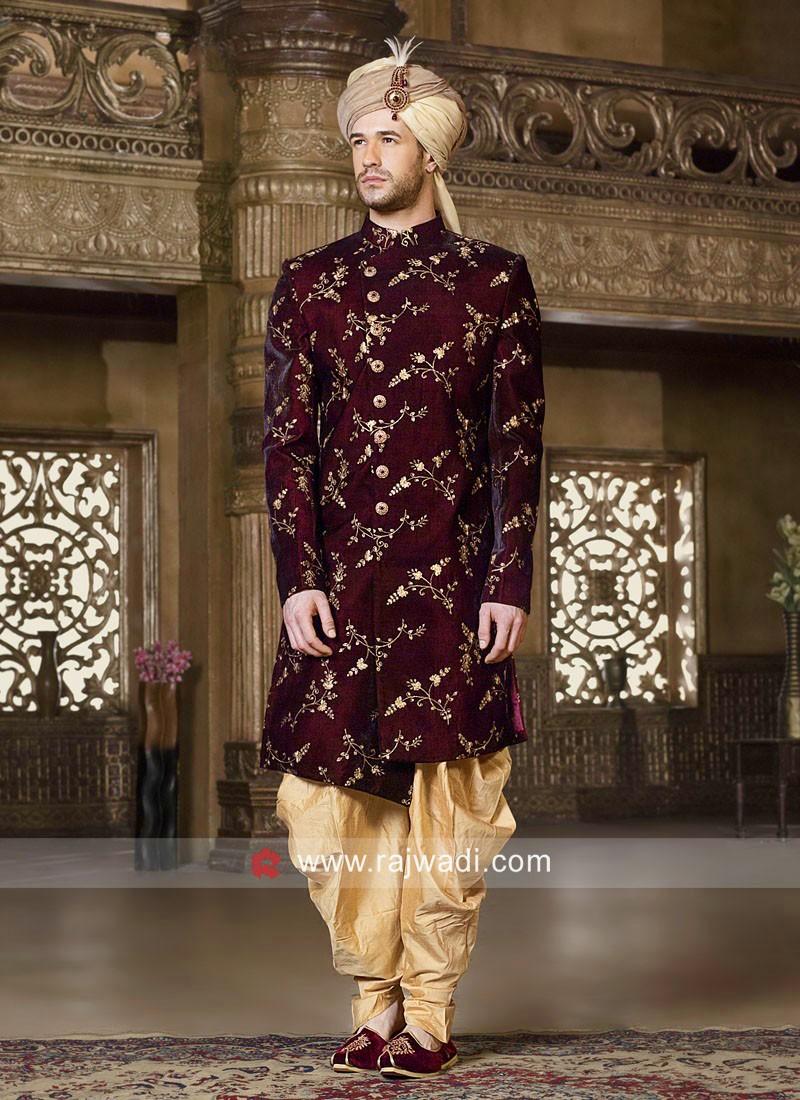 Maroon Color Indo Western