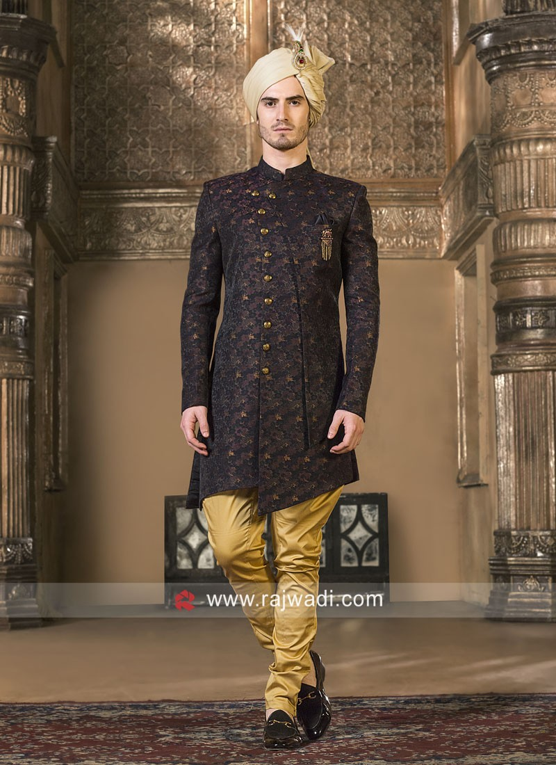 Wine Color Indo Western For Party