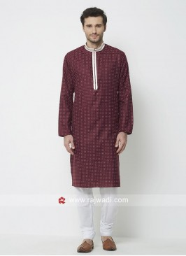 Wine Color Kurta Pajama