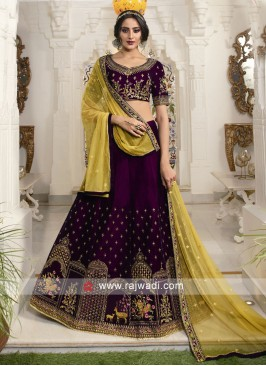 Wine color lehenga choli with dupatta