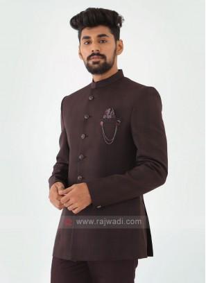 Wine Imported Jodhpuri Suit
