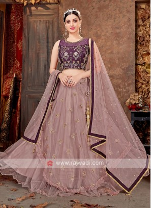 Wine And Onion Pink Color lehenga Choli