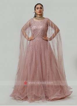 Wing sleeves Designer Gown