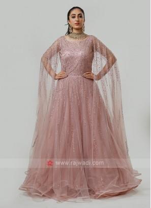 Wing sleeves Designer Gown