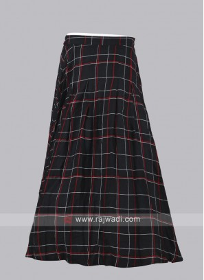 Women Multi-Color Checked Maxi Flared Skirt