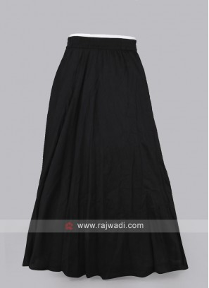 Women Black Solid Maxi Flared Skirt